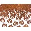 DÝNĚ - pumpkin - metalické konfety na stůl 2 x 2cm balení 15 g - HALLOWEEN