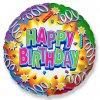 Balón foliový HAPPY BIRTDAY - narozeniny - 45 cm