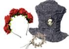 Čelenky, klobouky, rukavice, paruky na Halloween