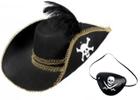 Pirátské klobouky, vousy, meče, záslepky, doplňky pro piráty