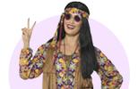Karnevalové kostýmy a doplňky na Hippies párty 60. léta