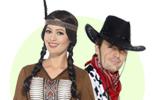 Westernová párty - kostýmy a doplňky pro indiány a kovboje