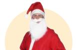 Kostýmy Santa Clause, Vánoce, elfové, sobi