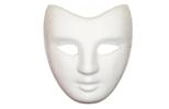 Bílé karnevalové masky k domalování
