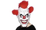 Strašidelné masky klaunů na Halloween