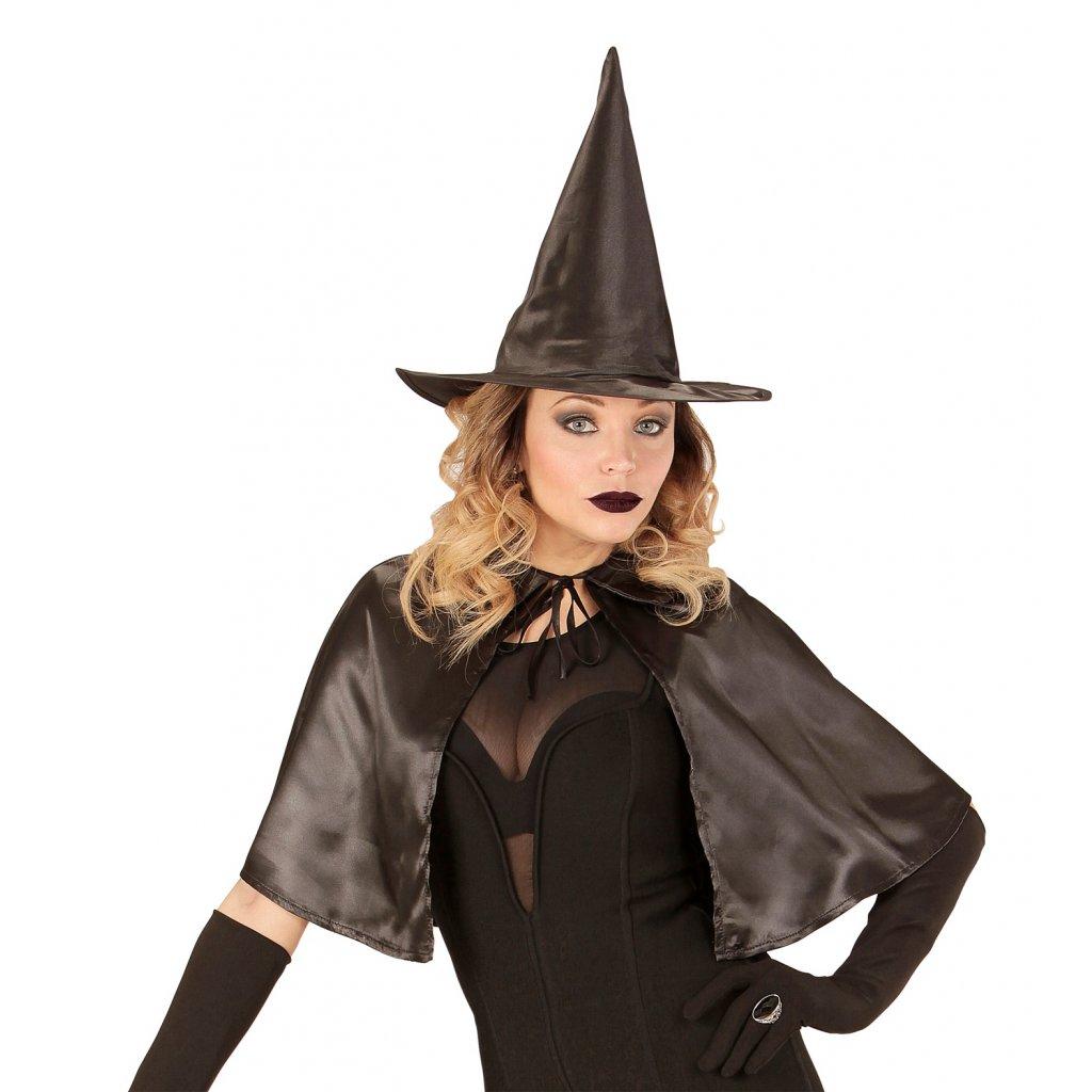 sada pro čarodějku pláštík a klobouk