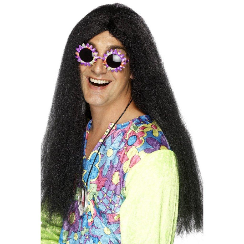 Pánská paruka Hippies černá