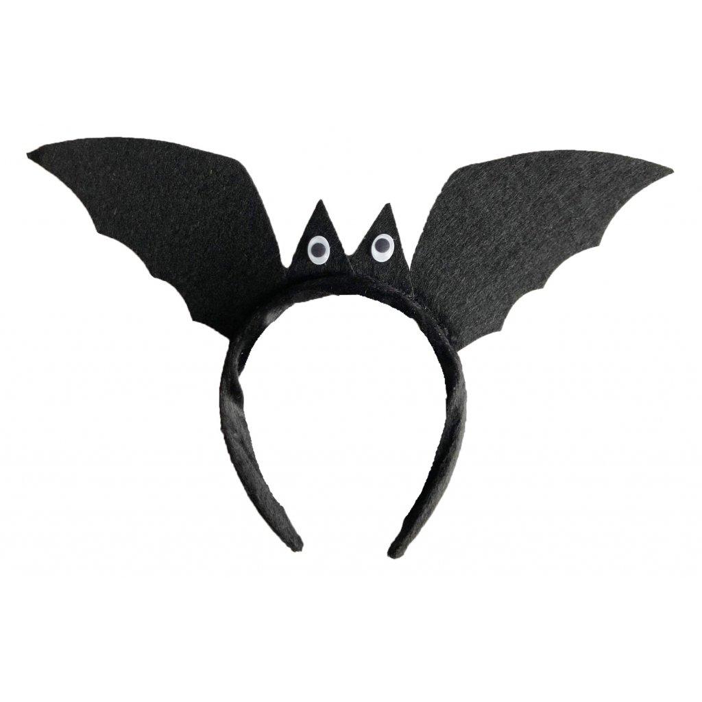 Karnevalová čelenka netopýr