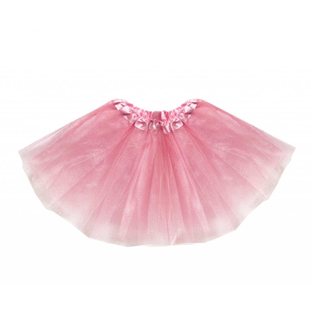 třpytivá tutu sukně růžová