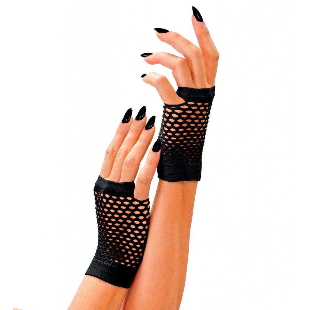 síťované rukavice