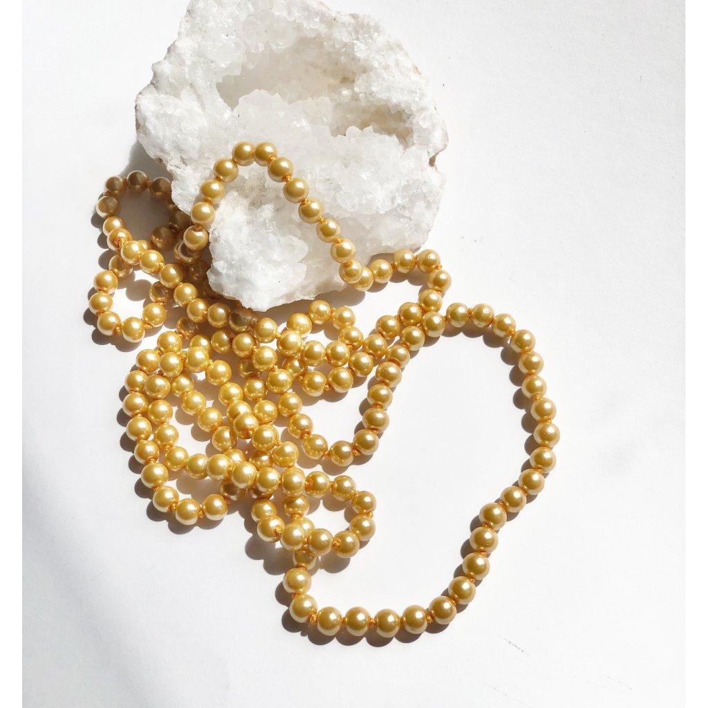 náhrdelník zlaté perly