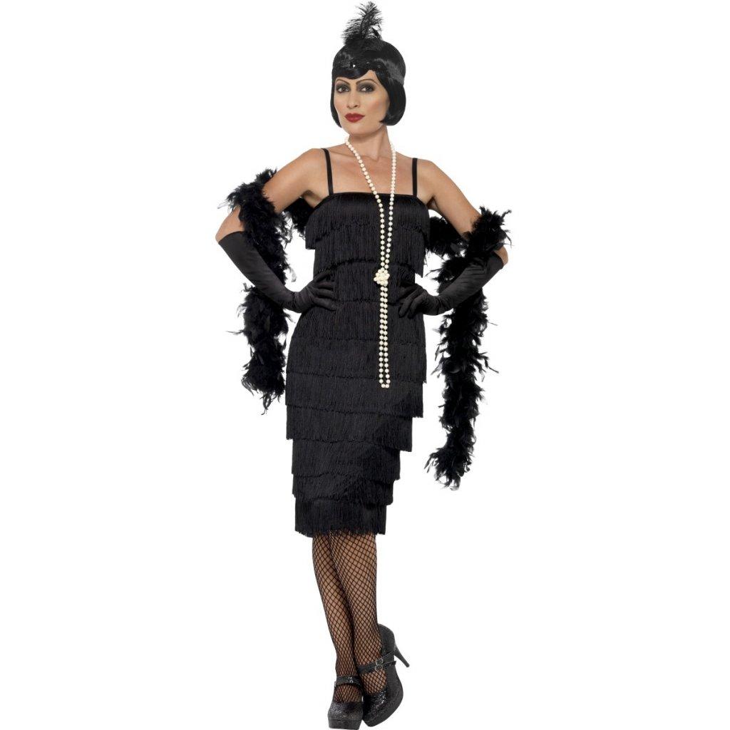 15c21f91ac03 Černé šaty s třásněmi kostým 30. léta