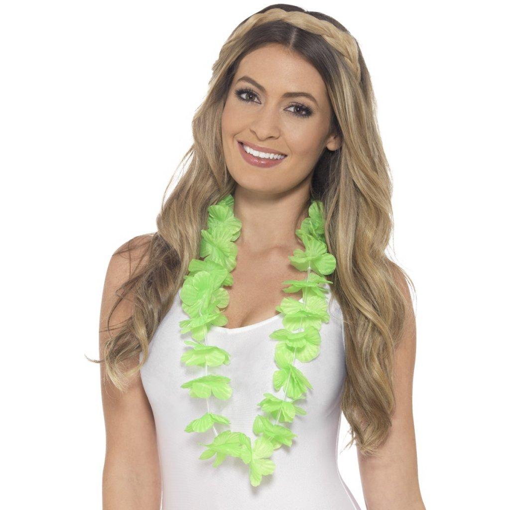 Havajský květinový věnec zelený