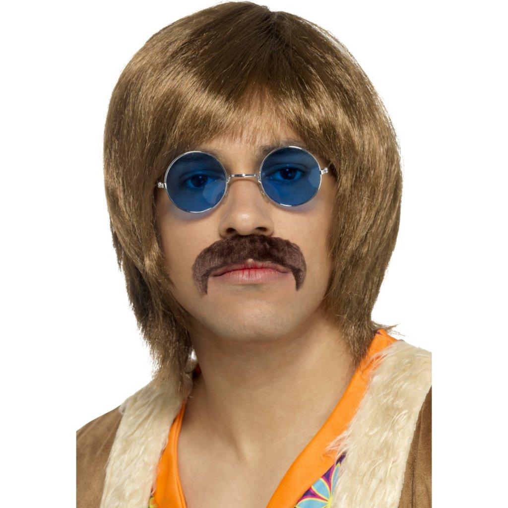 Hippie sada paruka, lenonky, knír