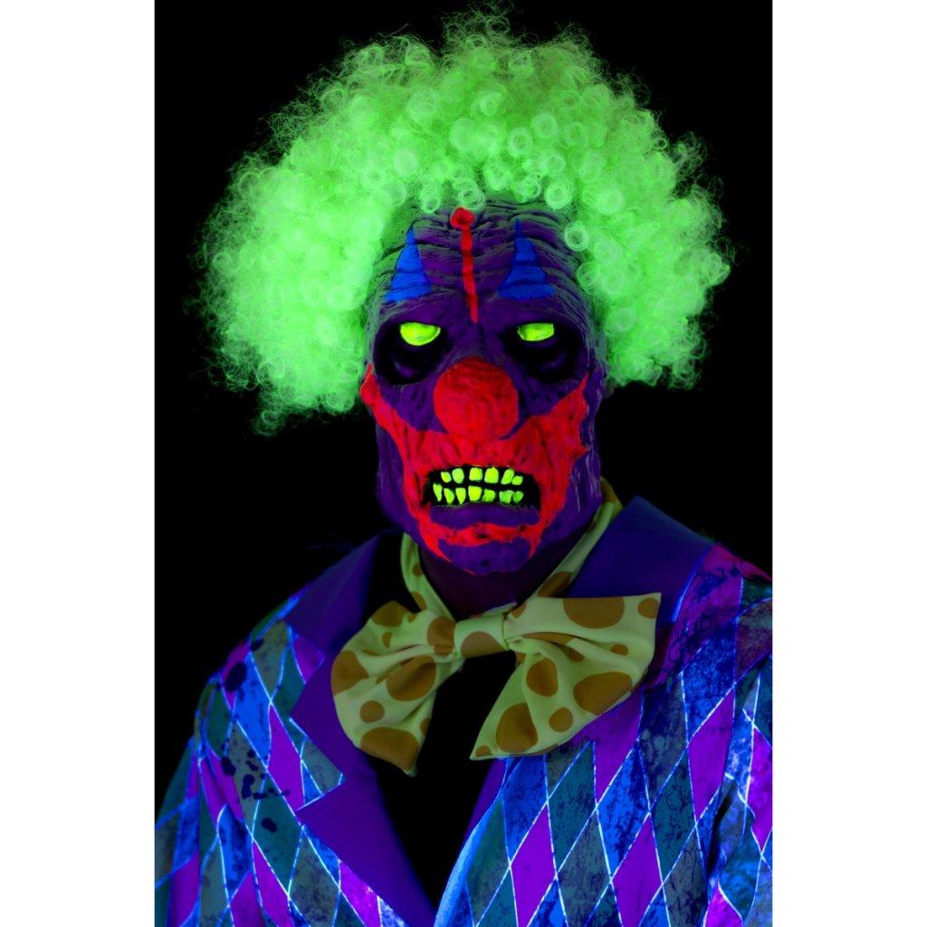 Halloween maska UV Klaun svítící ve tmě