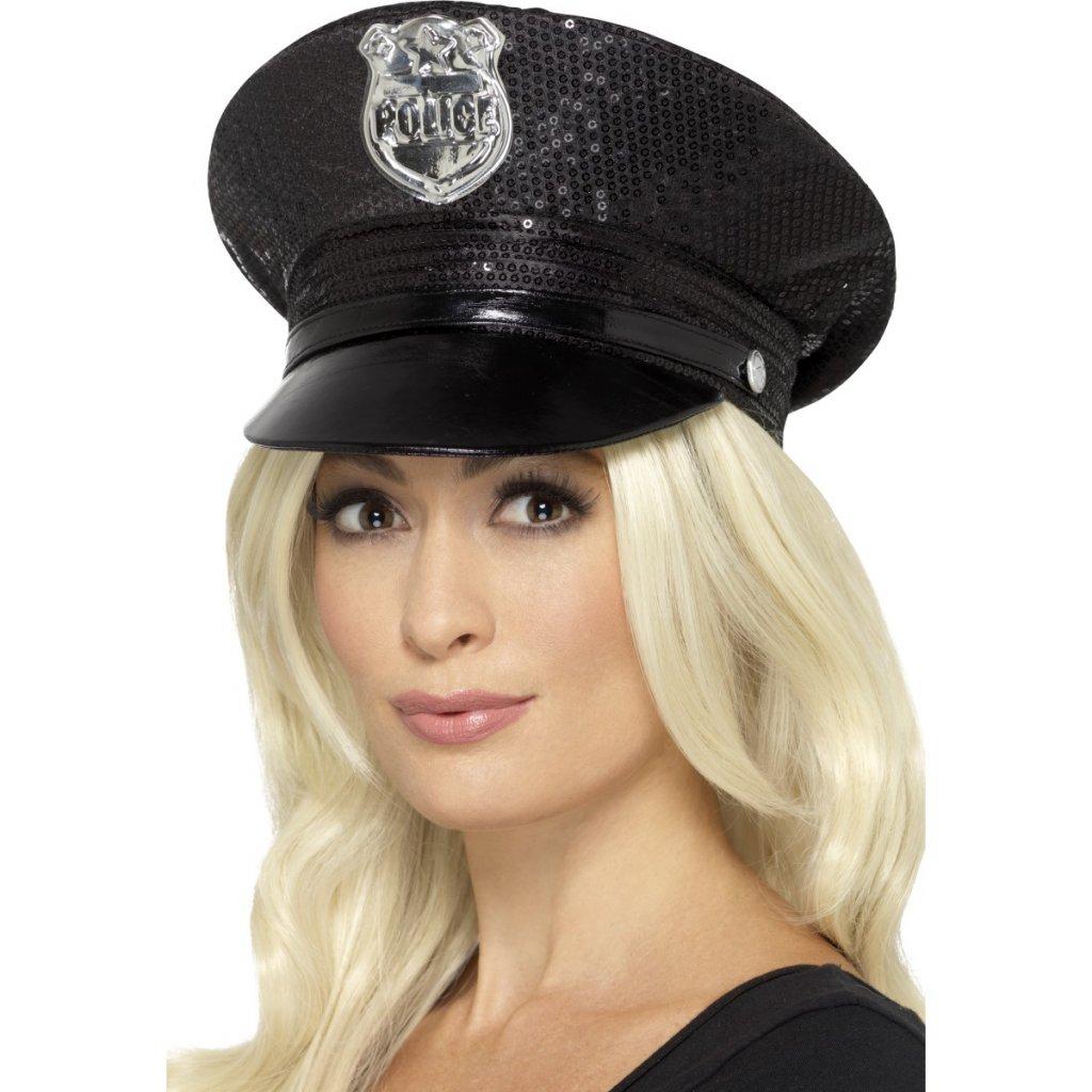 Dámská policejní čepice s flitry