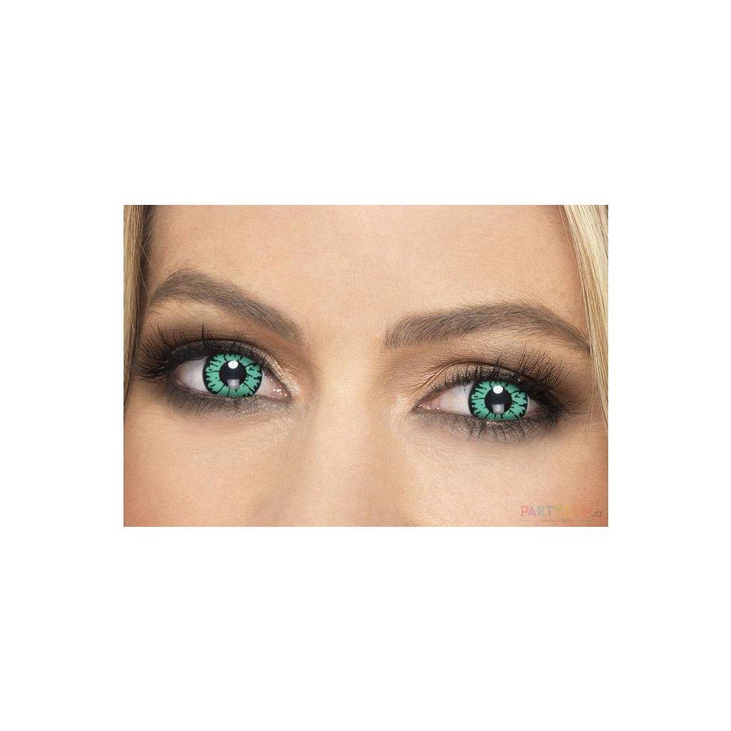 Barevné kontaktní zelené čočky reptil
