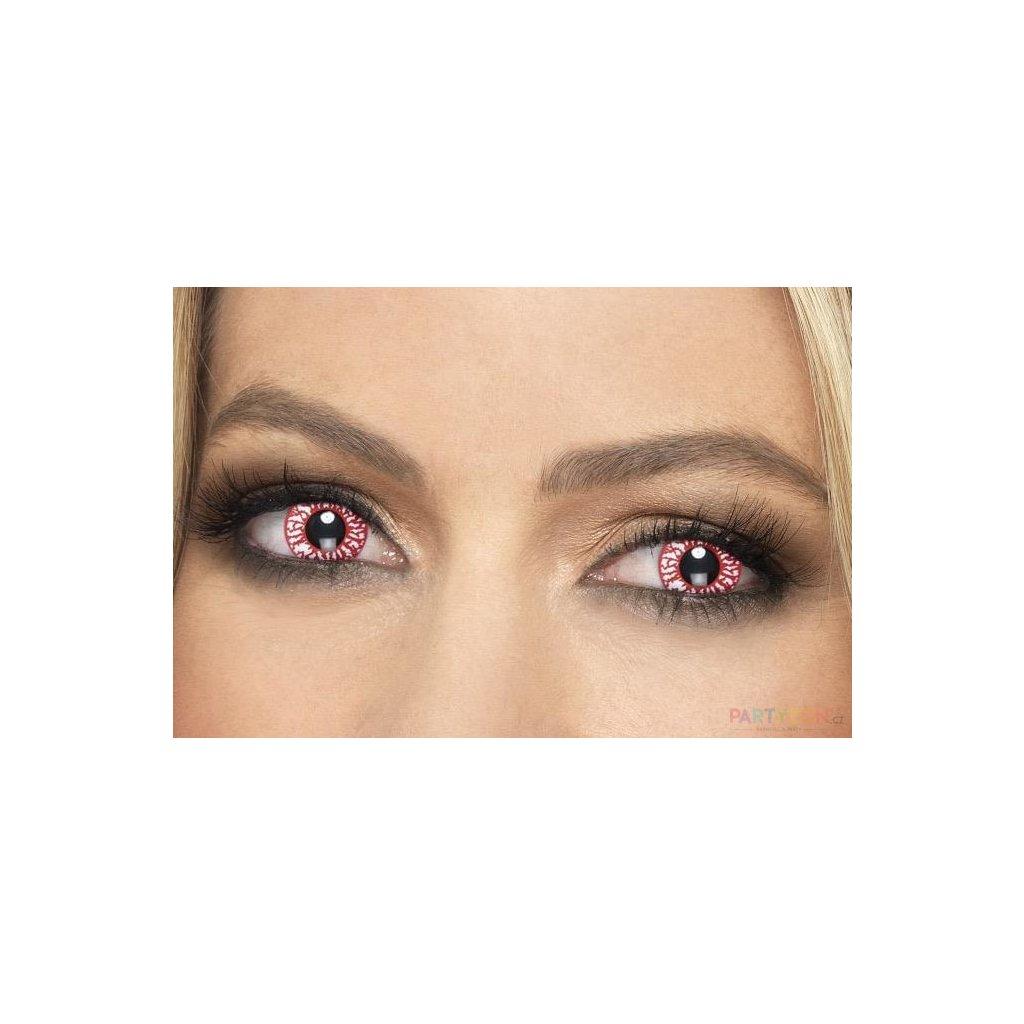 Barevné kontaktní čočky červené žilky levně