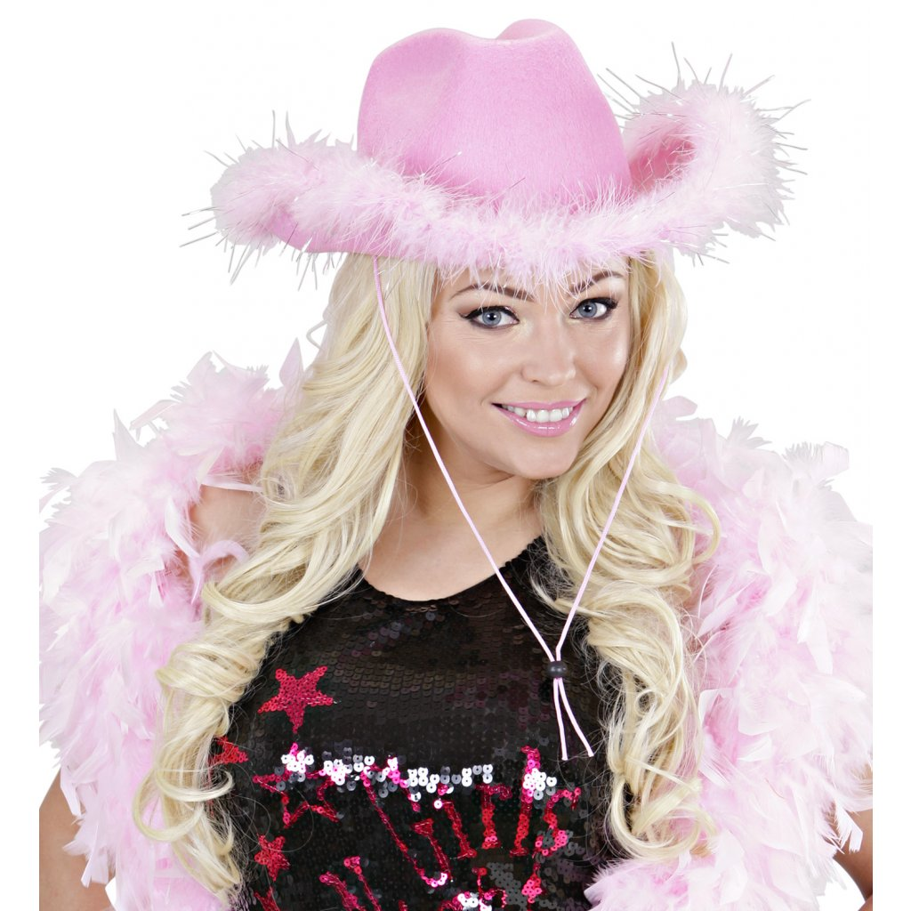 05a21a9fddb Dámský kovbojský klobouk růžový