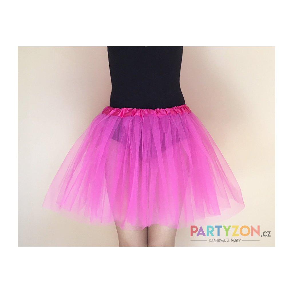 Tylová tutu sukně růžová na karneval  7c81b25a97