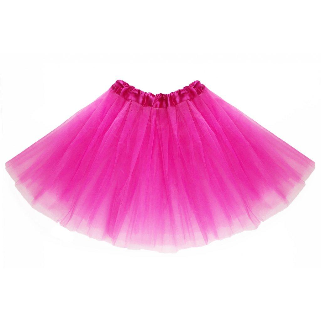 tutu tylová sukně růžová