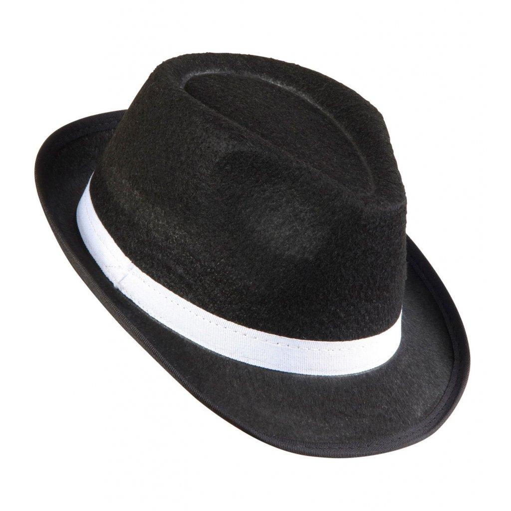 Mafiánský klobouk fedora černý  569e0a429e