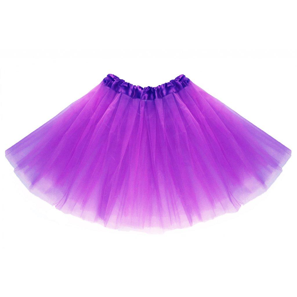 05884bcb77a8 Tylová tutu sukně fialová na karneval a párty