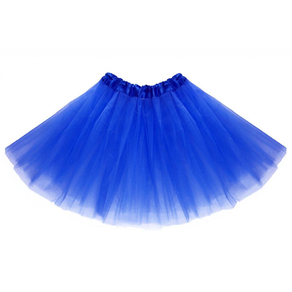 f1c8d5902bb3 Tylová tutu sukně modrá na karneval a párty