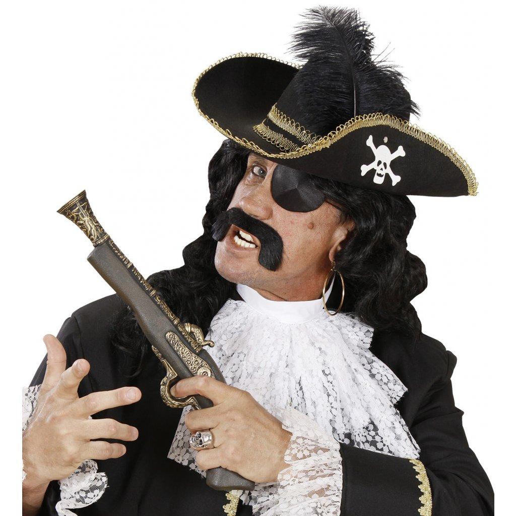 0b76f5e1cfe Elegantní pirátský klobouk s brkem
