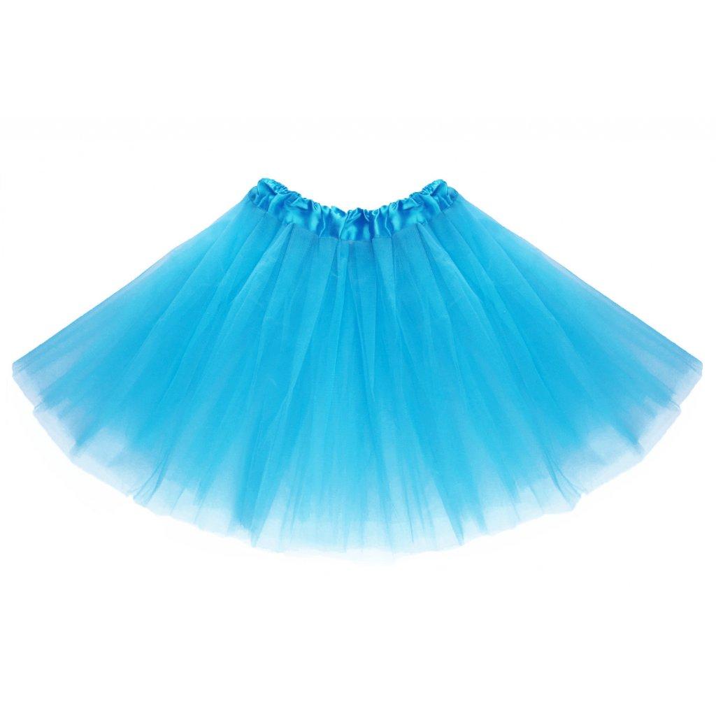 tylová tutu sukně tyrkysová na karneval a párty