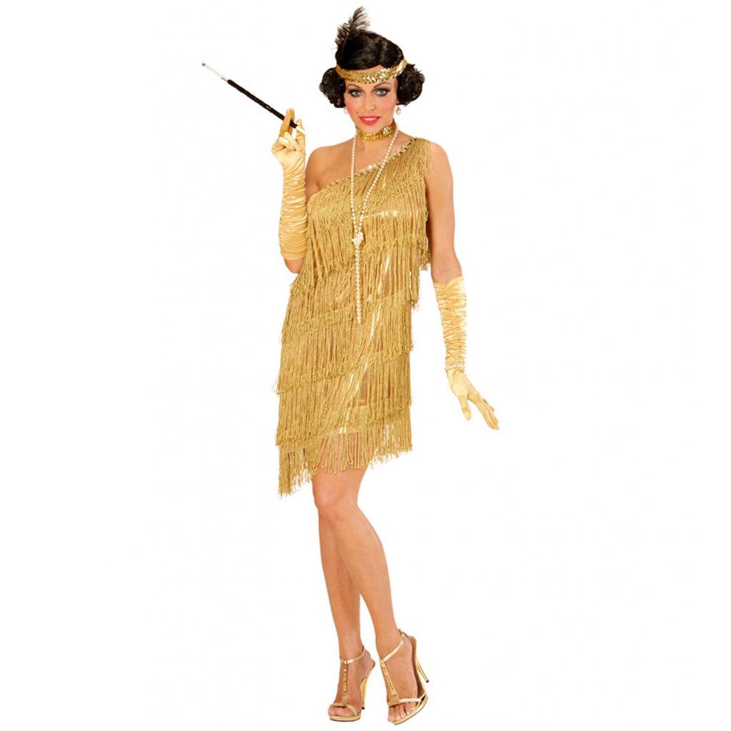 Dámský kostým 20. léta zlatý vel. M