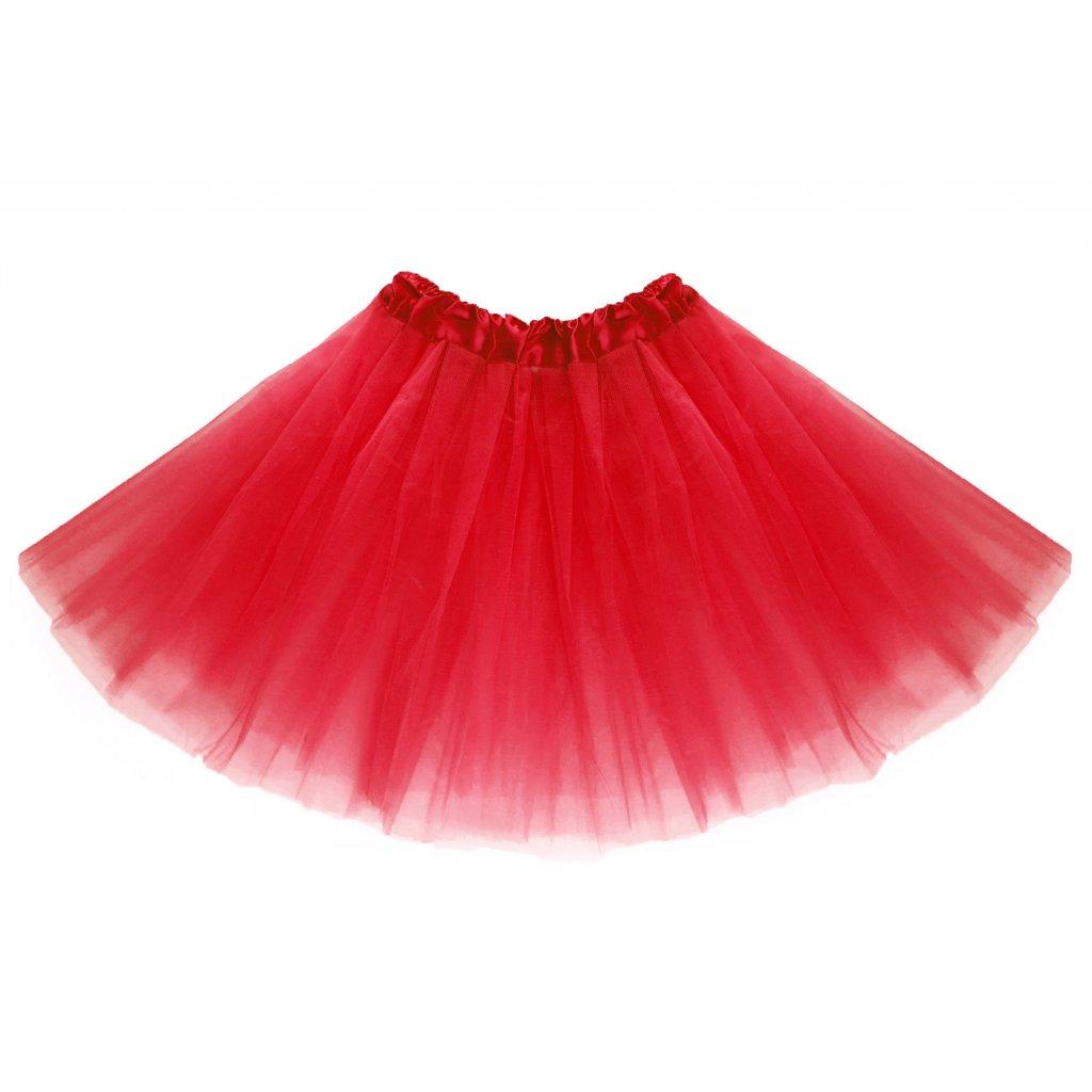 Tylová tutu sukně červená na karneval a párty  2c1a66a8b4