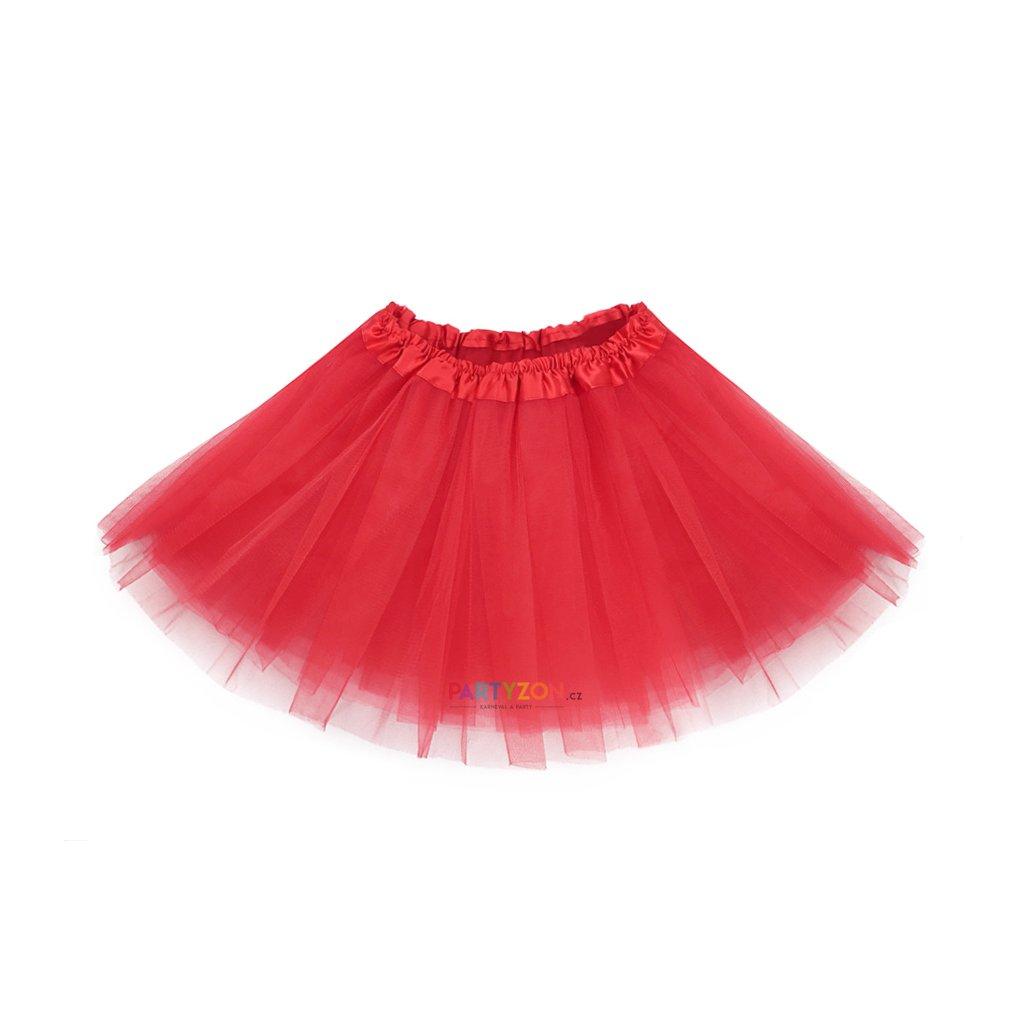 83326e8327ab tylová tutu sukně pro děti červená