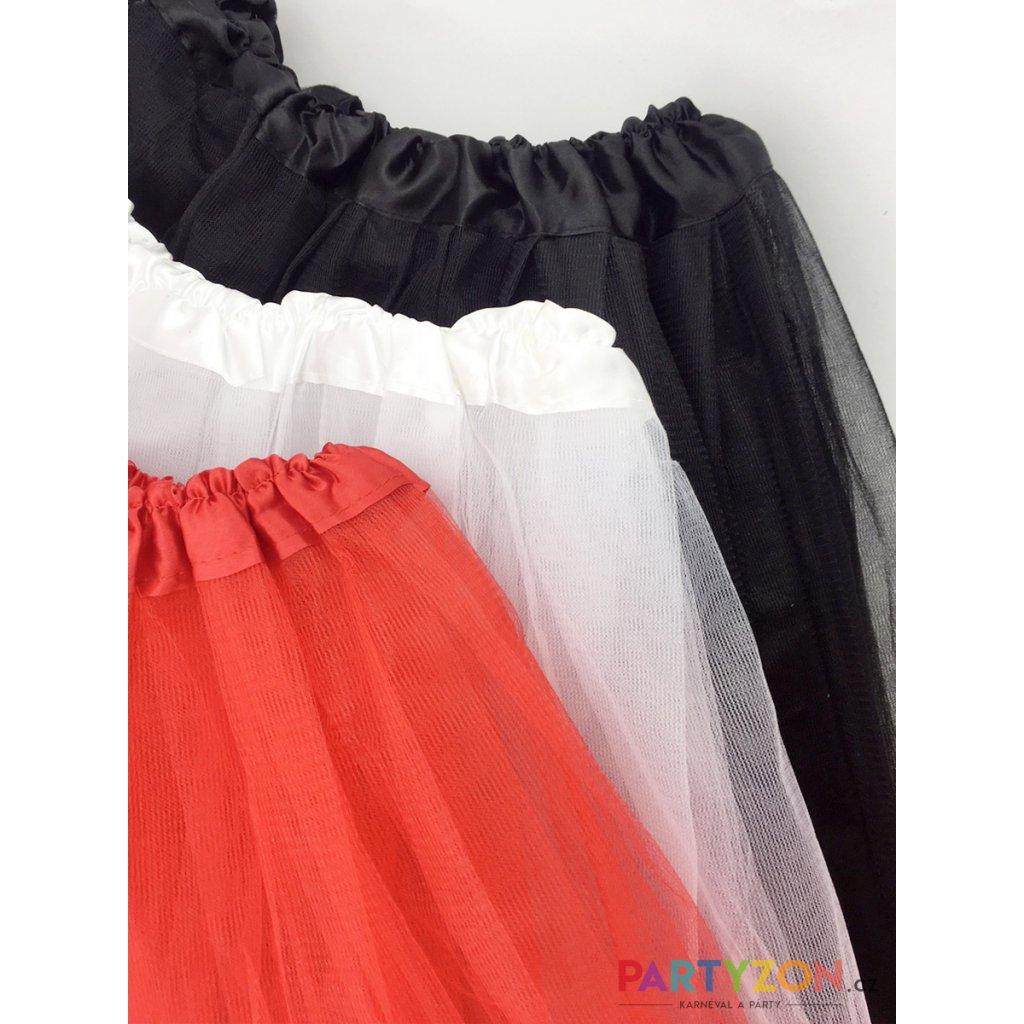 Tylová tutu sukně bílá na karneval a párty  38c246a779