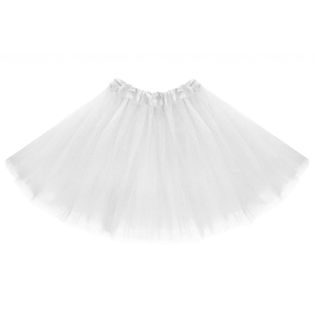 tutu tylová sukně bílá na karneval a párty