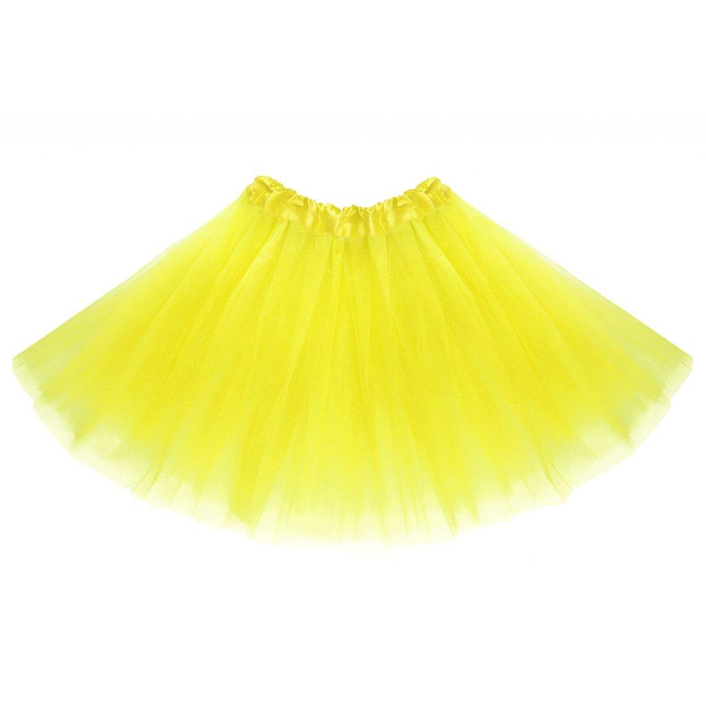 Tylová tutu sukně žlutá na karneval a párty  d2e35dc9d1