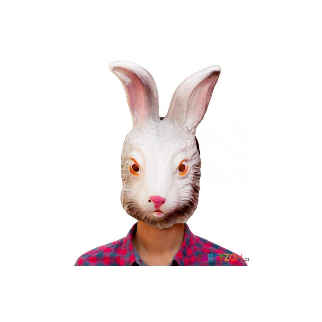 Karnevalová maska králík bílý  e604367e46