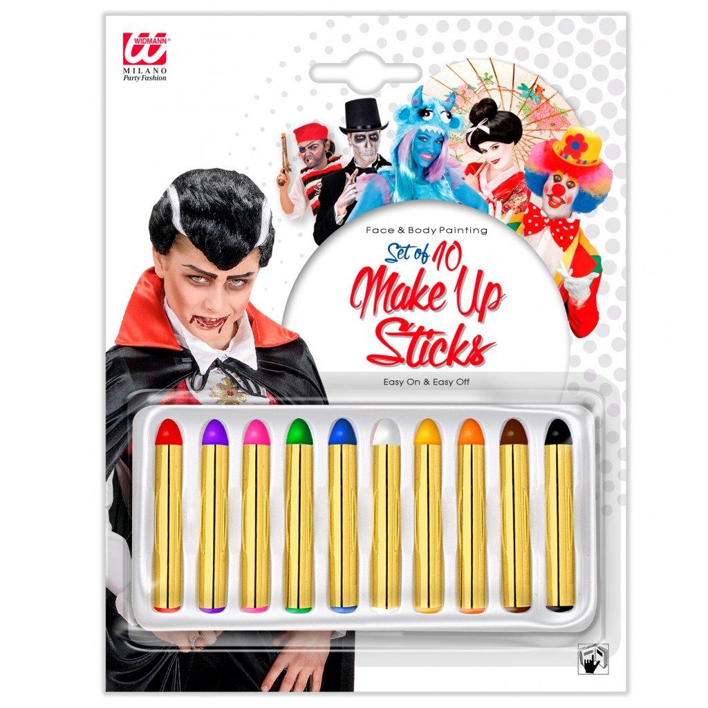 Barvy na obličej tužky 10 ks