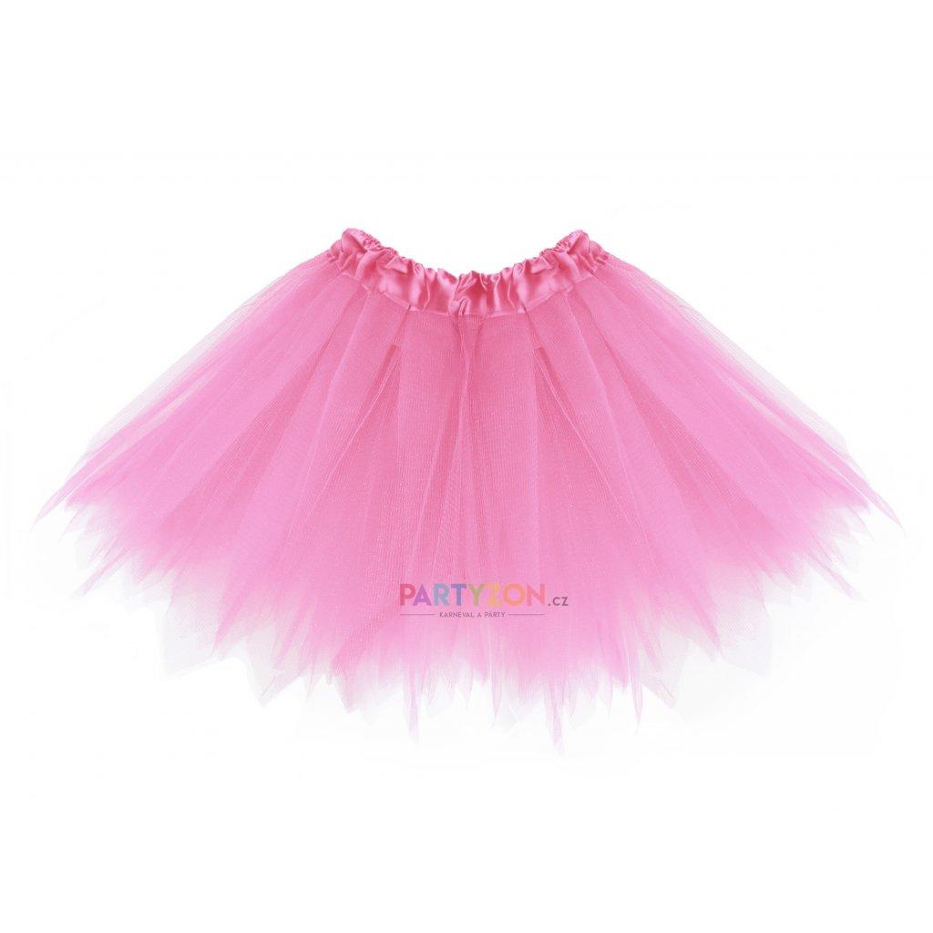 dětský tylová tutu sukýnka světle růžová