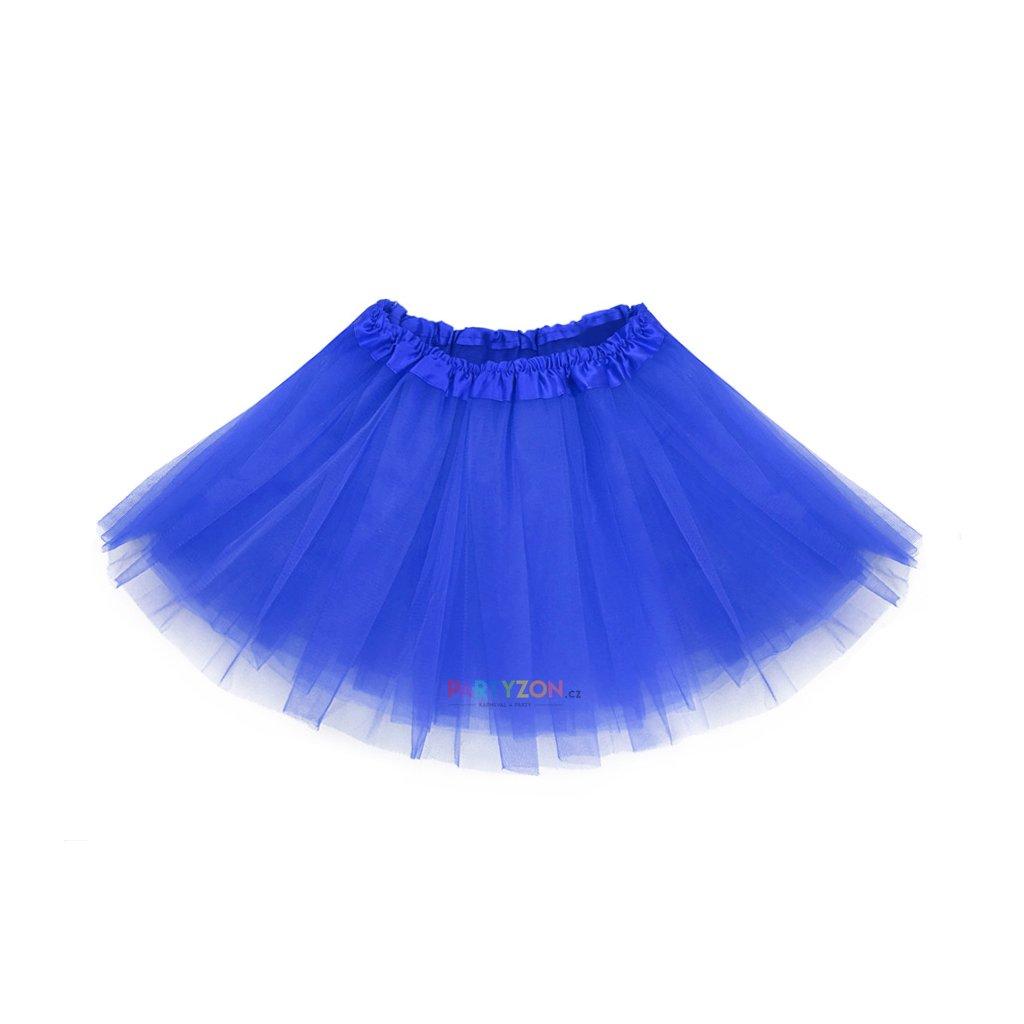 dětská tylová tutu sukýnka modrá