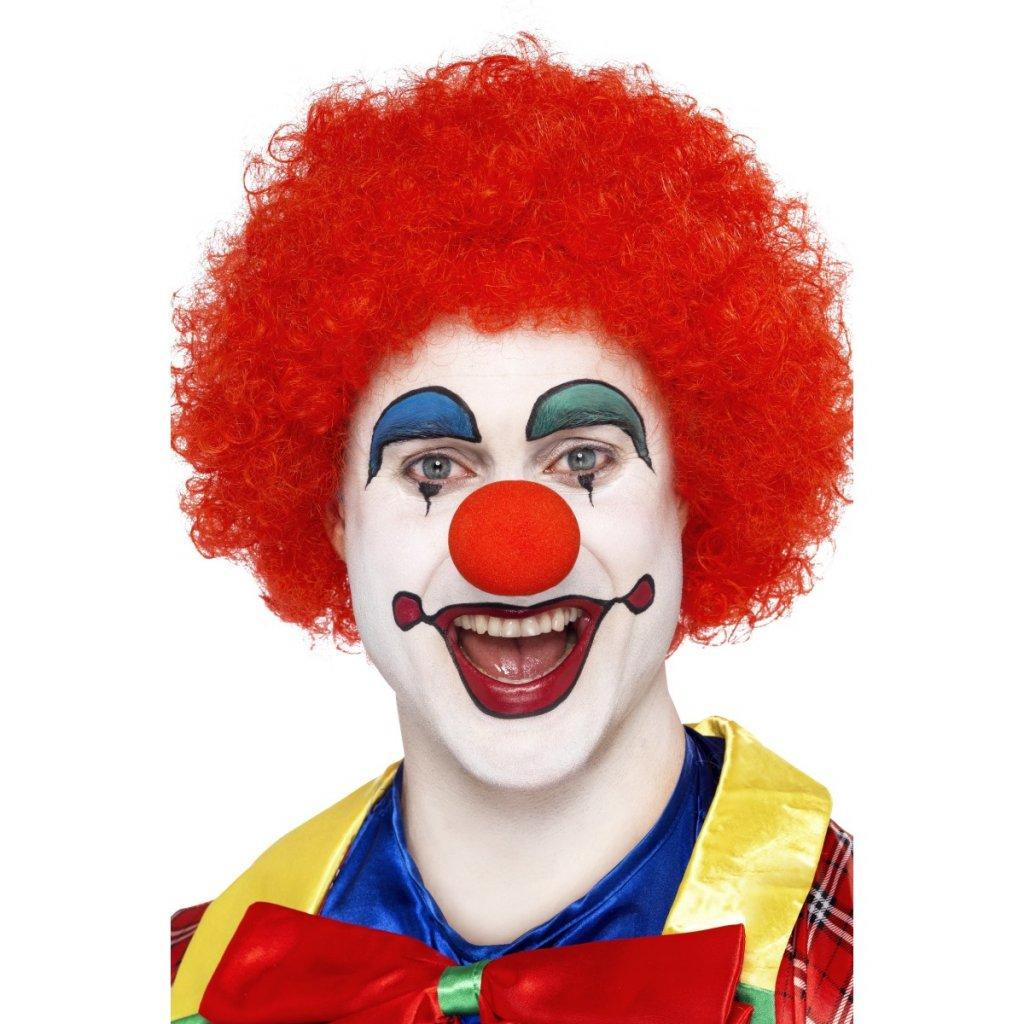 Červená paruka klaun