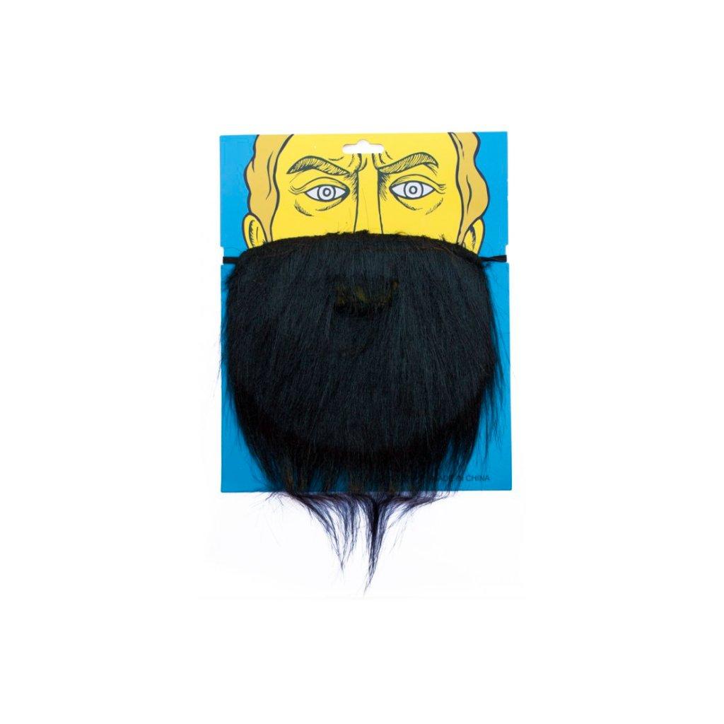 Umělé vousy černé na gumičku