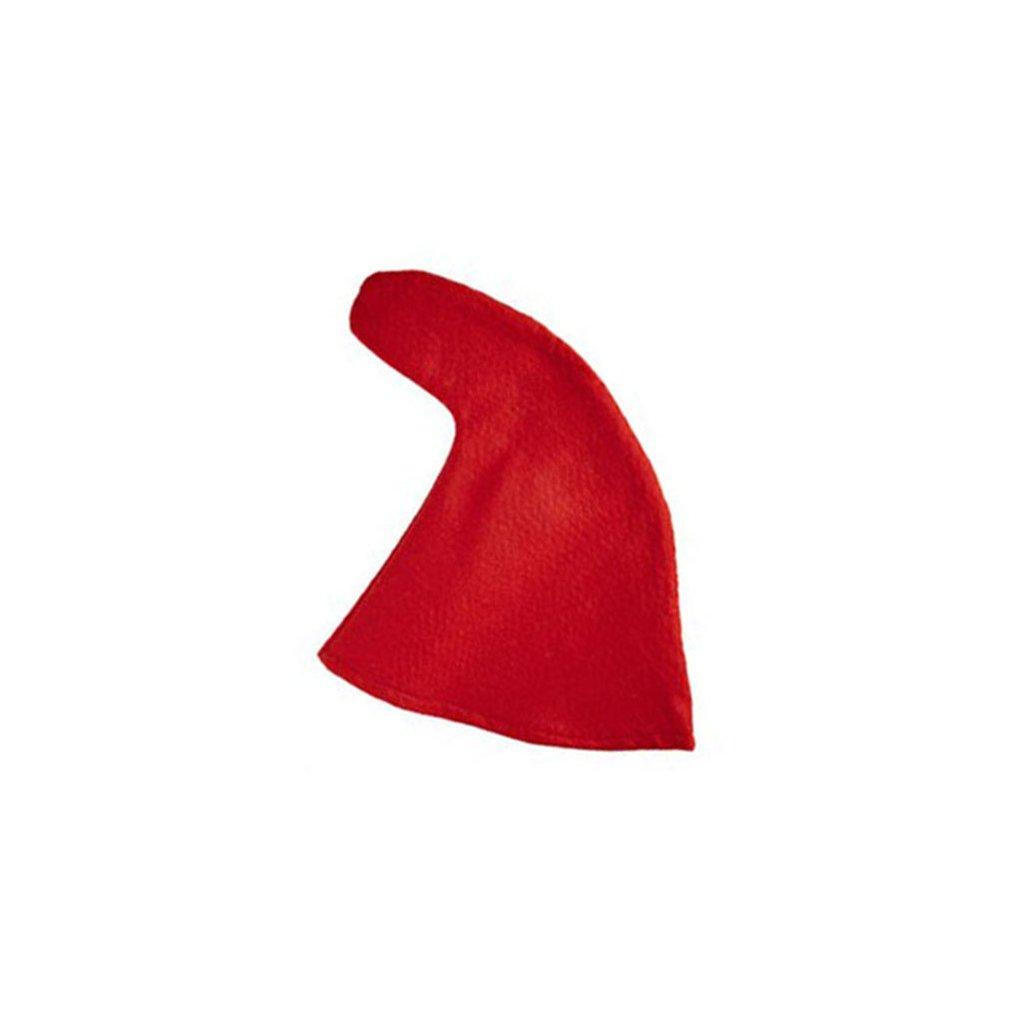 trpasličí čepice červená