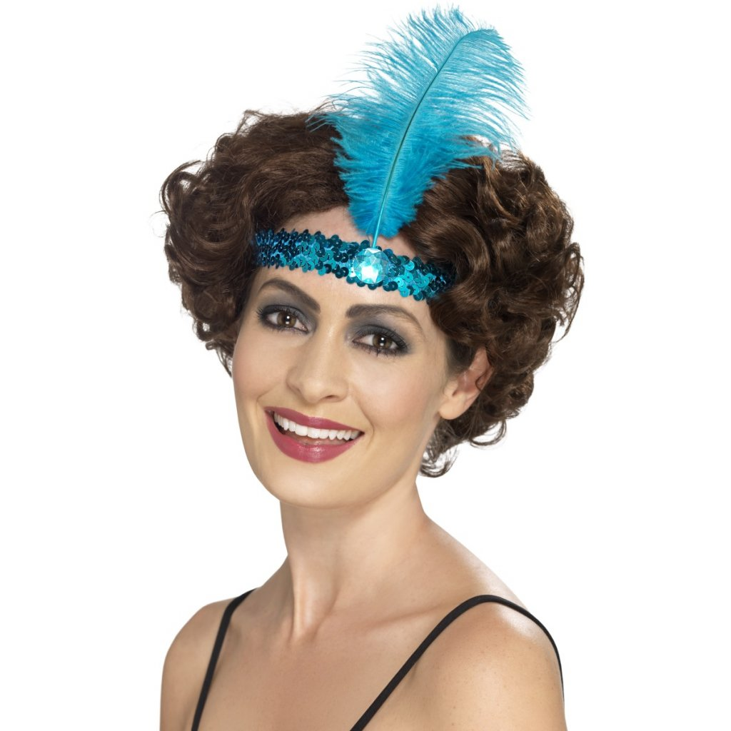 charleston čelenka modrá