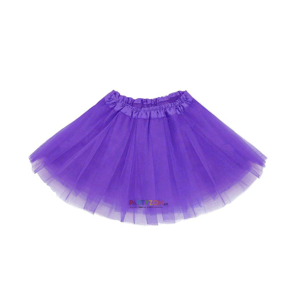 743096d5c5cd Dětská sukýnka fialová 30 cm