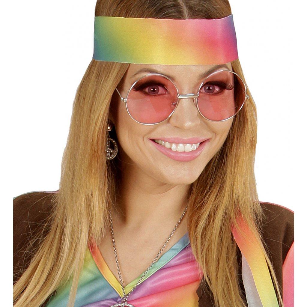 5a038f407bb Růžové brýle 70. léta - Karnevalové doplňky
