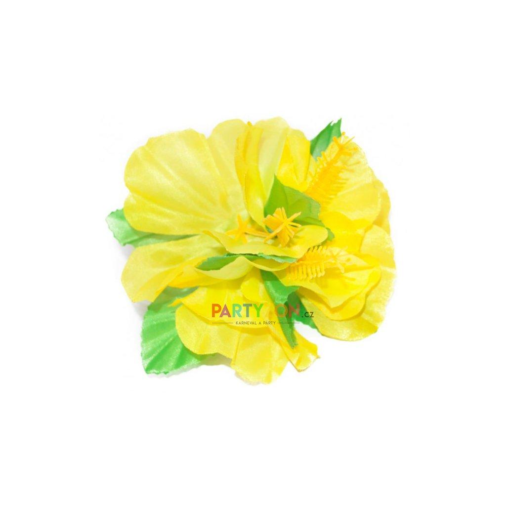 bc76748faaf Havajský květ do vlasů žlutý
