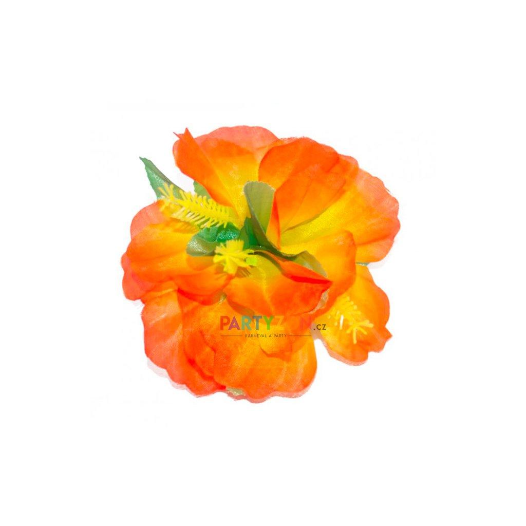 fb78a9e5d29 Oranžová květina do vlasů