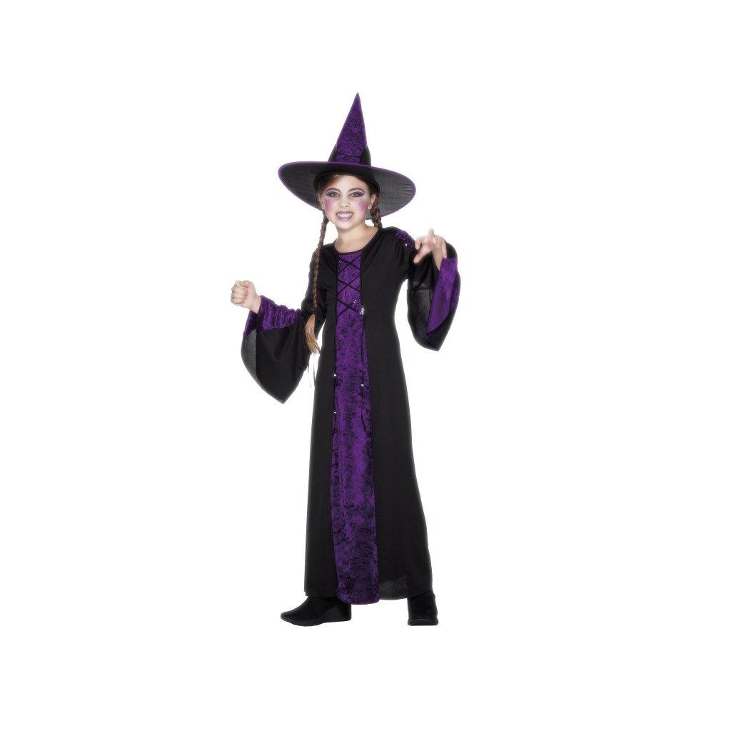 Dětský kostým čarodějnice fialový