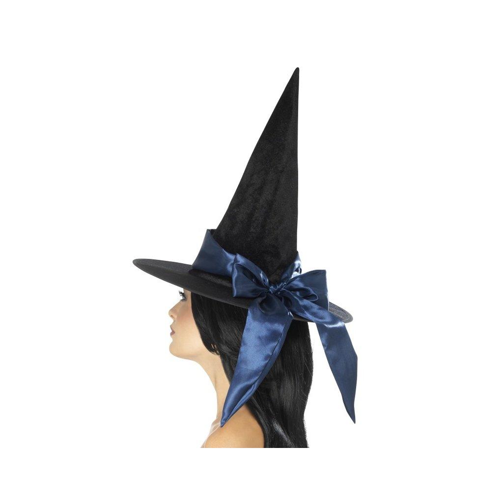 4f187eb9d5f Čarodějnický klobouk černý deluxe PARTYZON.cz